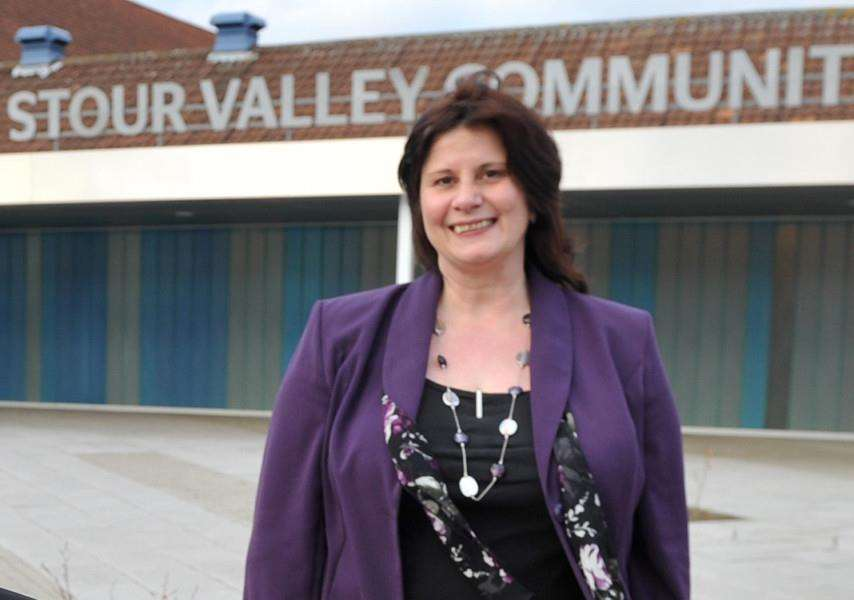 Stour Valley Community School's current headteacher Christine Inchley, is retiring this summer.