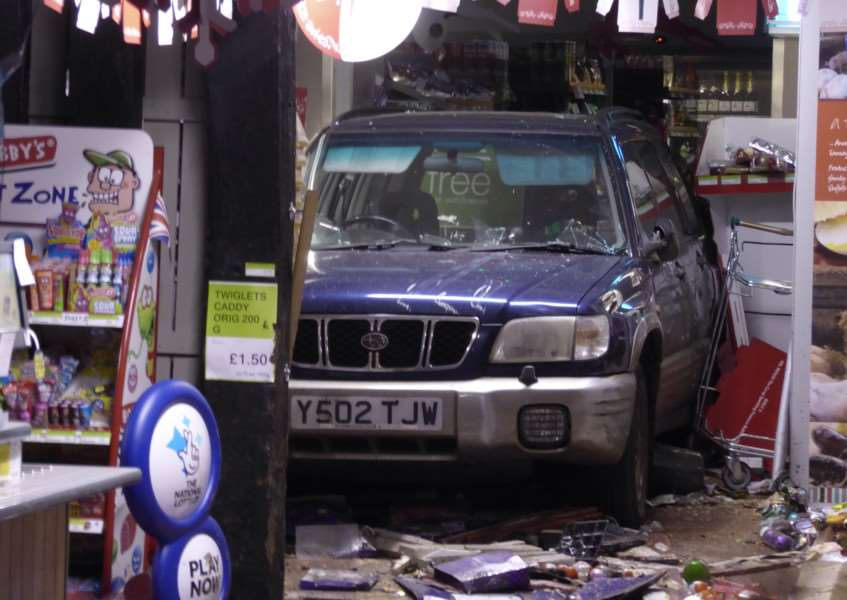 The Co-op Foodstore in High Street, Lavenham was ram raided in the early hours of Thursday, December 21