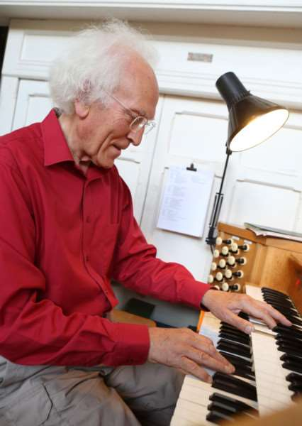 St Gregory's Church, Sudbury open day - Roger Green plays the church organ ANL-160814-104944009