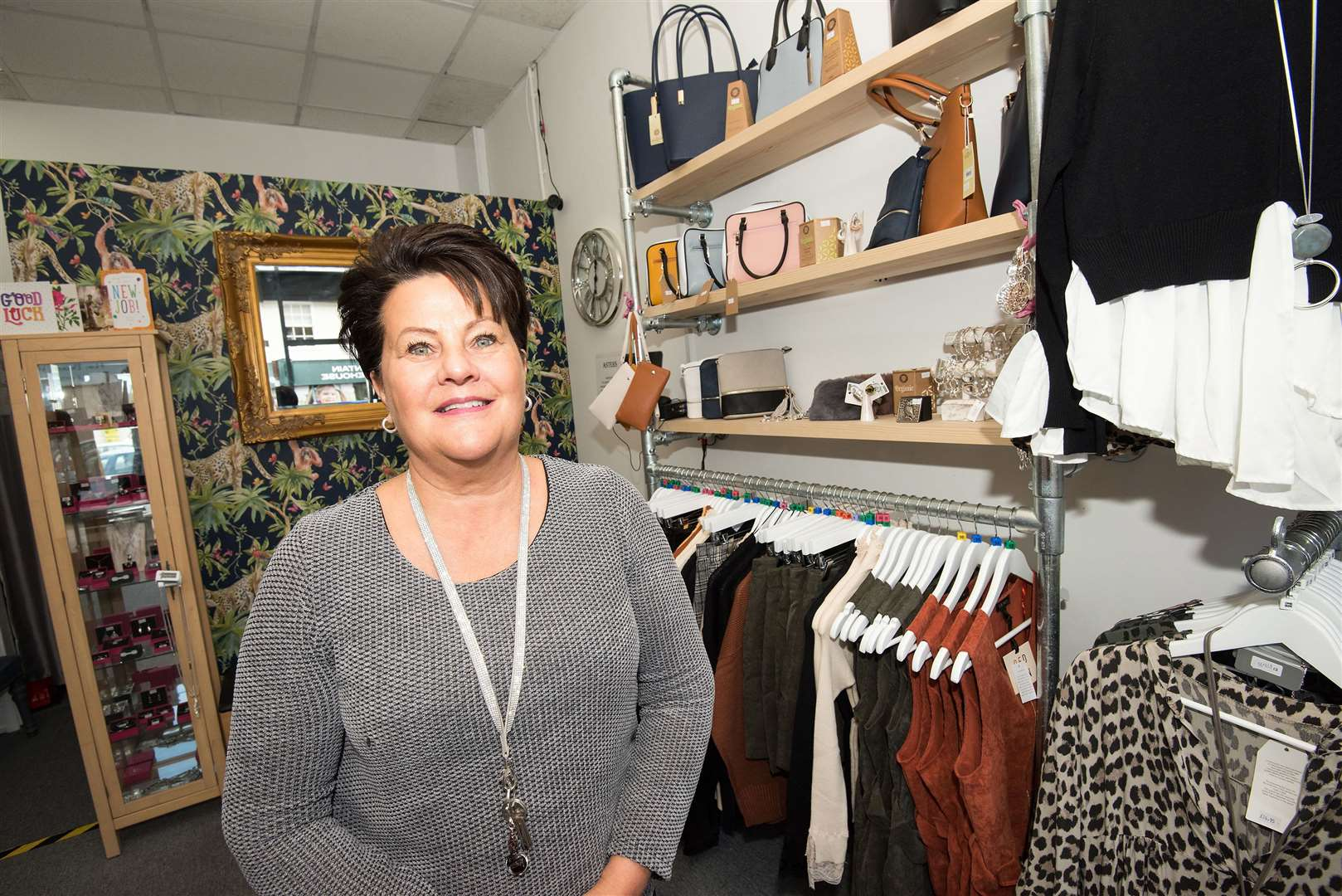 SUDBURY: New shop.Asters, Old Market Place, Sudbury, Suffolk .Asters, a new ladies' clothing and accessories shop, opened at the the site of the old Post Office building in Sudbury on Friday, September 27, 2019..store owner Bridget Baldwin at the shop. Picture Mark Westley. (18275405)