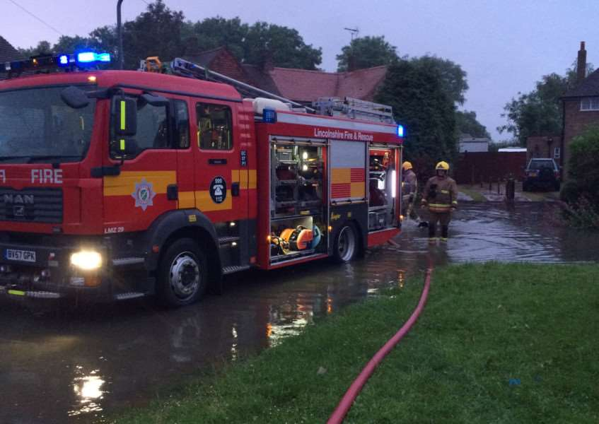 Fire and rescue tackle flash flooding yesterday