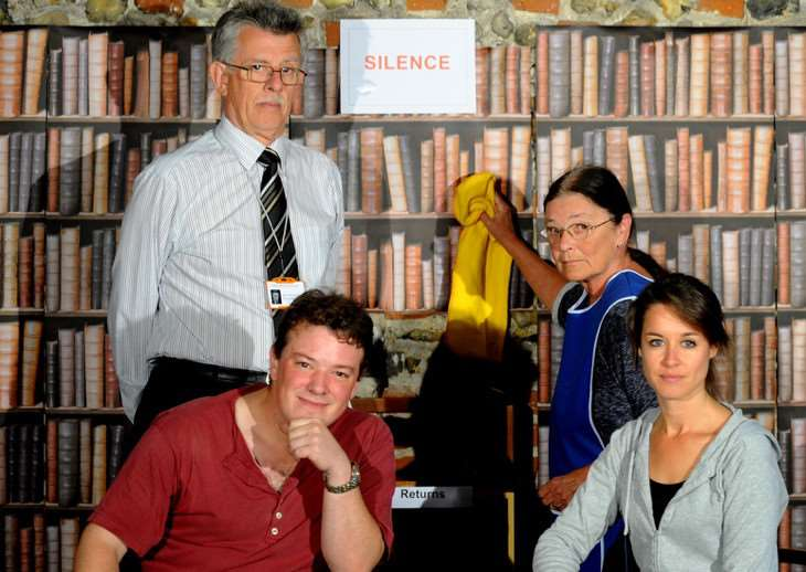 The cast of Quirkhouse Theatre's production, Talking in the Library, now touring the Bury St Edmunds area. Picture: Andy Abbott ANL-160604-153419001