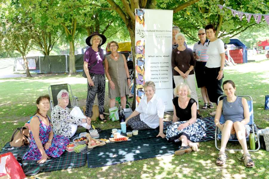 Abbey Gardens picnic for the Multicultural Women Group of Bury St Edmunds