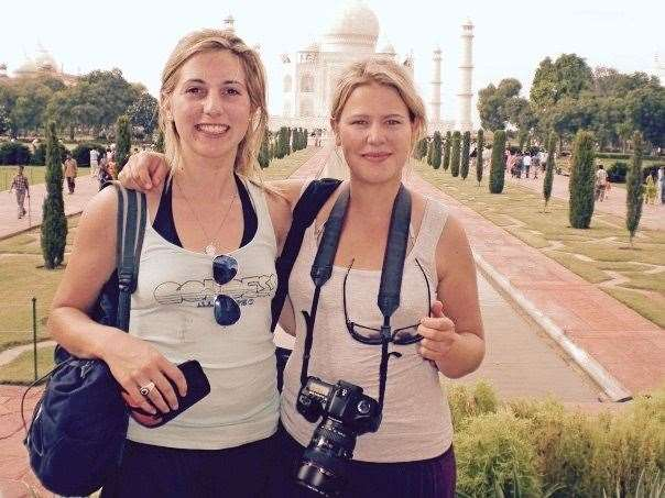 Kirsty Minton and Becky Barletta together in India