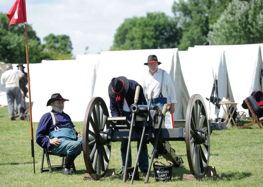 The Sourthern Skirmish Association's American Civil War artillery is prepared for action