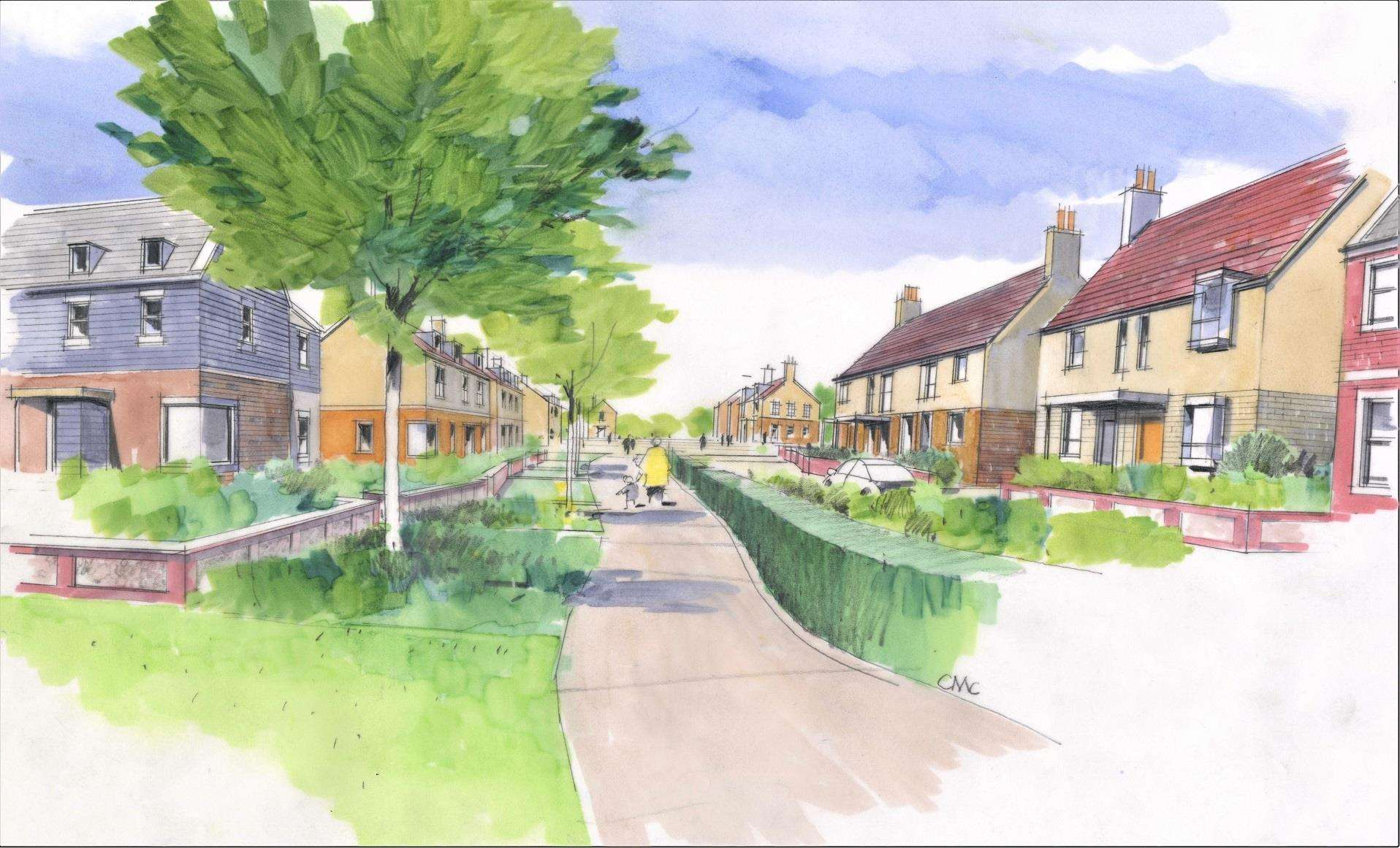Artist's impression of the proposed Weavers Green housing development in Boxford. Image supplied by Catesby Estates. (6869740)