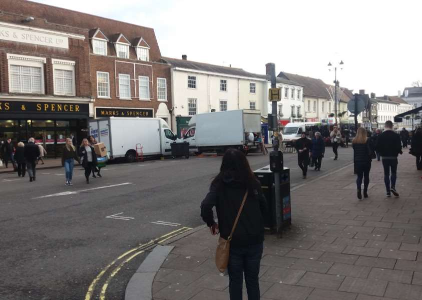 High winds left Bury St Edmunds Market short of traders