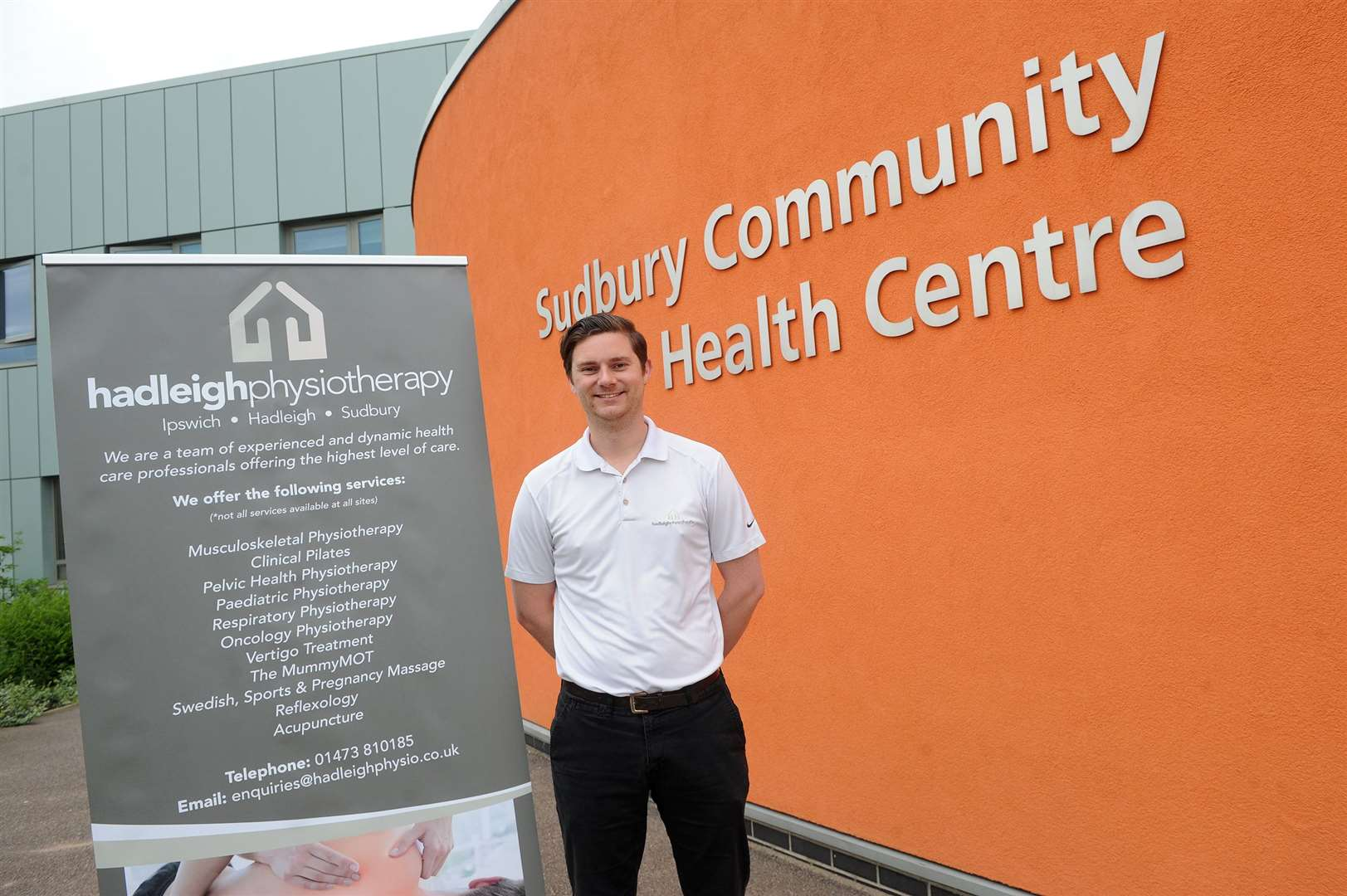 A new physiotherapy clinic is opening at Sudbury Community Health Centre on 10th June ..Pictured: James Leathers ...PICTURE: Mecha Morton... (11751205)