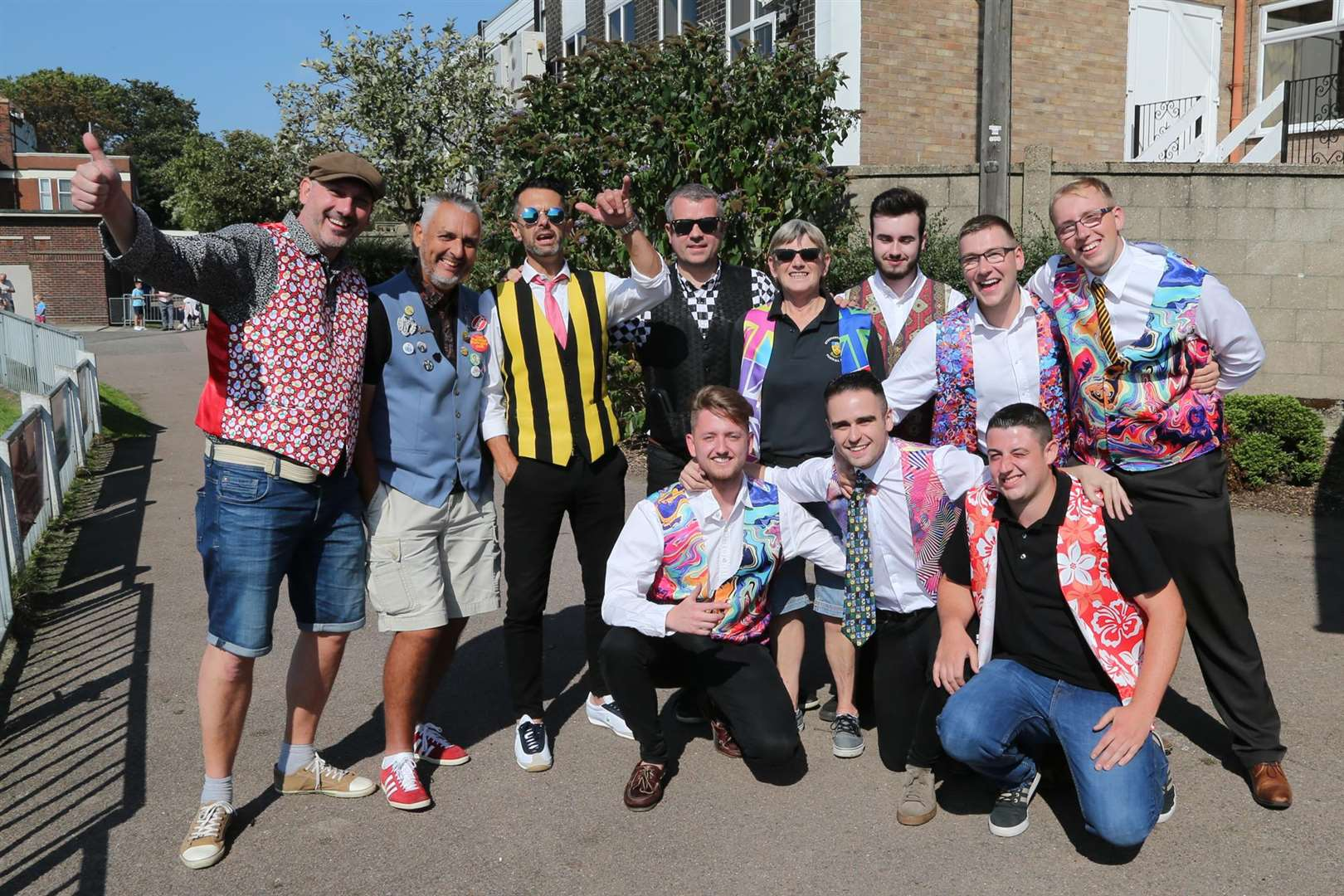 BIG SUPPORT: A number of Stow fans wore waistcoats at Yarmouth