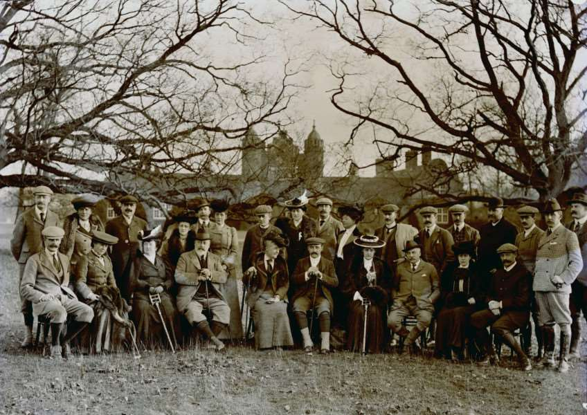 King Edward VII at Culford Hall in 1904. From the Spanton Jarman collection. ANL-161031-110209001