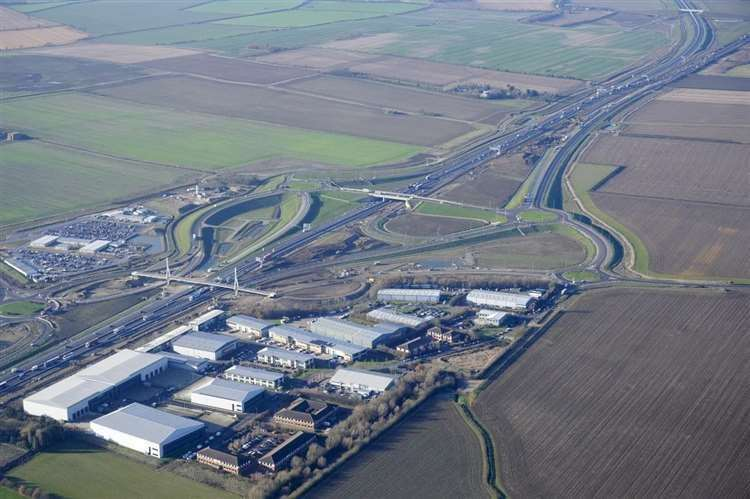 The A14 captured from the sky (34350445)