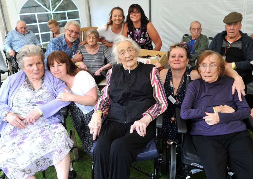St Peters House Garden Party''Pictured: Residents and staff enjoying the music ANL-150913-204458009