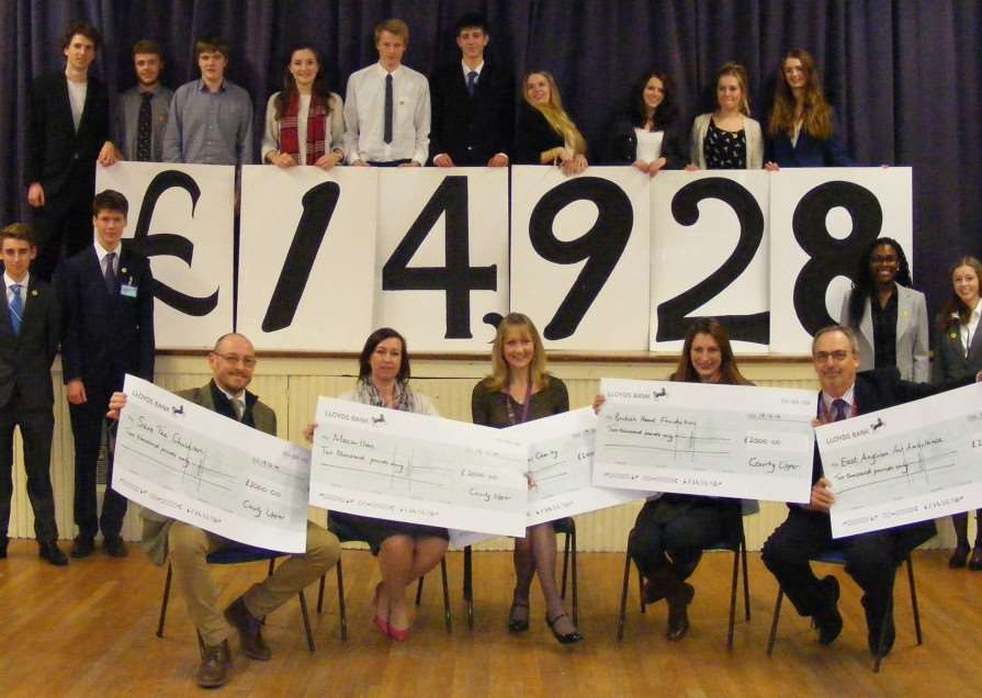 County Upper School has raised ?14,928 from its charity bonanza ANL-141222-122552001