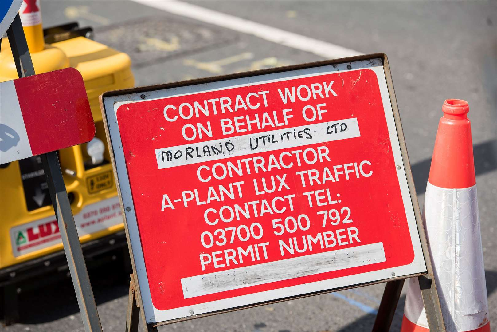 Roadworks. Picture: Mark Westley