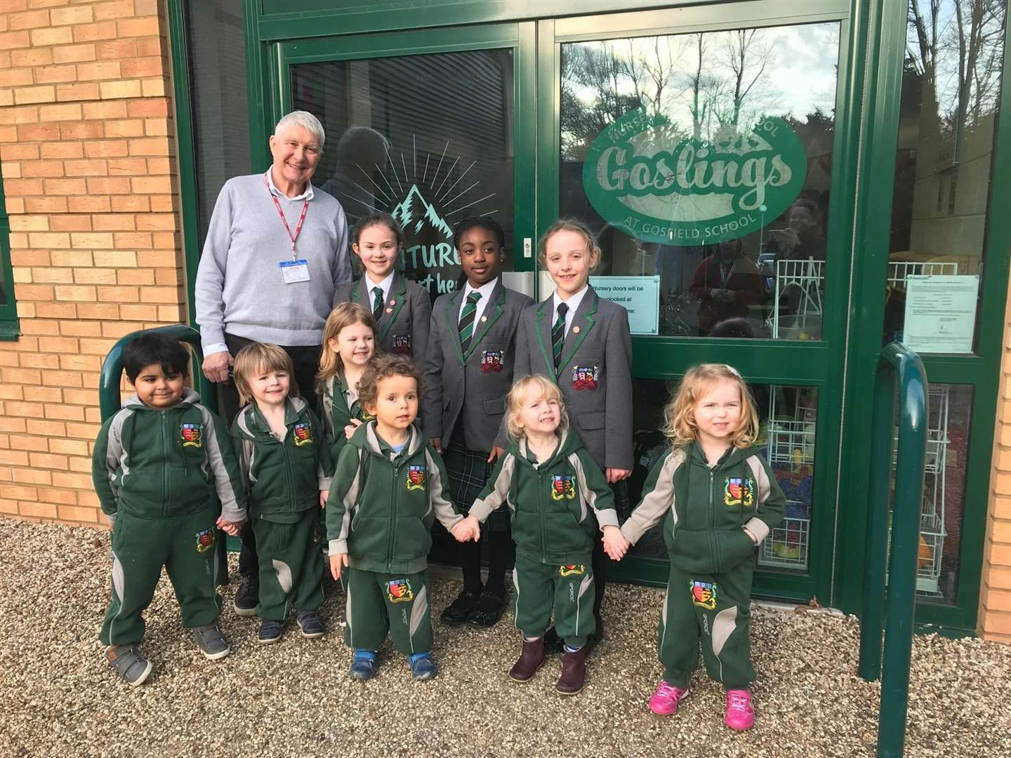 Author Nick Butterworth visited Gosfield School to mark the renaming of its nursery. (7153377)