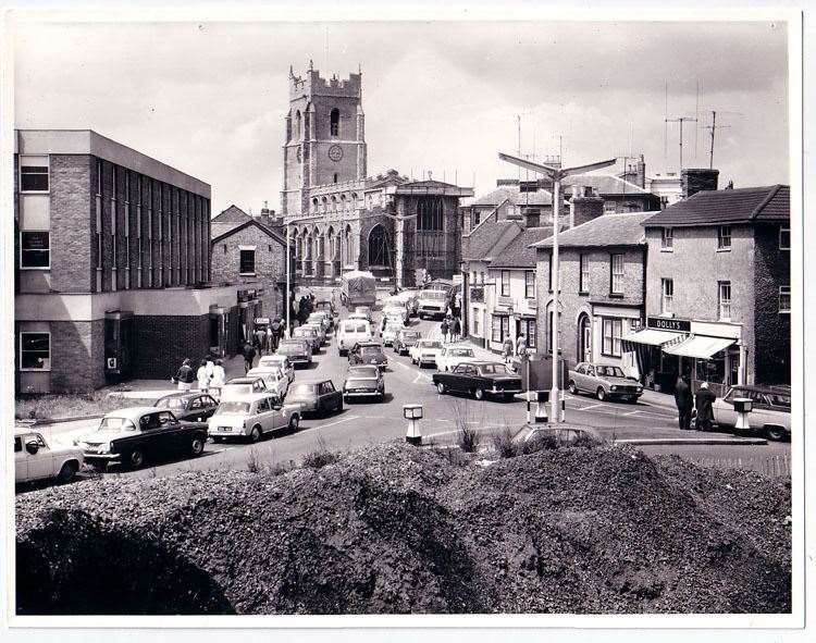 King Street in Sudbury around 1971 after the demolition of the old police station. Picture: Sudbury Photo Archive