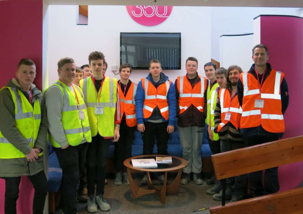 West Suffolk College students at Celotex in Hadleigh. ANL-150225-115532001