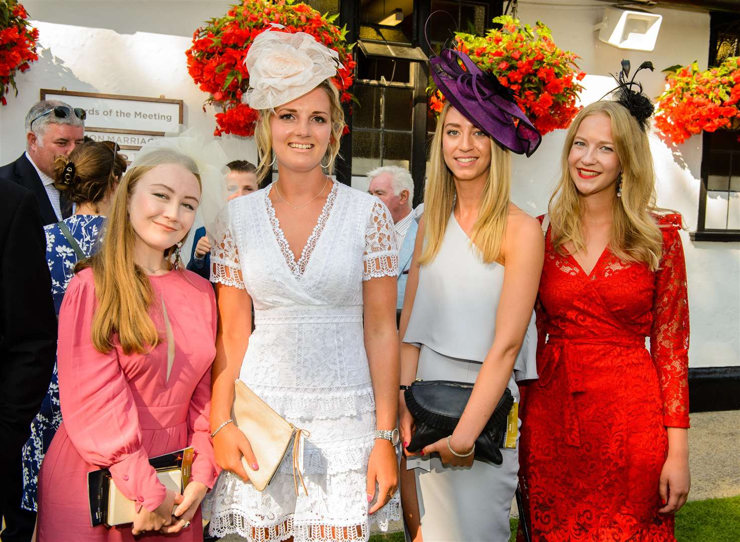 Winners of the style awards. The Moet & Chandon July Festival, Day 2, Feel Good Friday, The July Course, Newmarket Racecourse, UK - 13 Jul 2018 Photo: Jonathan Stewart for The Jockey Club (3108623)