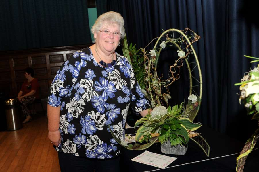 Annual Flower Show by Haverhill & District Flower Club''Pictured: Beverly Moore with her display that won Best in Show''''PICTURE: Mecha Morton