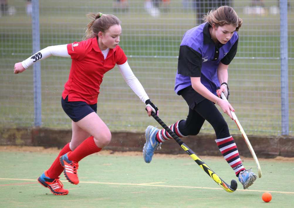 ON TARGET: Josie Partridge, right, scored two goals in Sudbury Ladies II's excellent victory