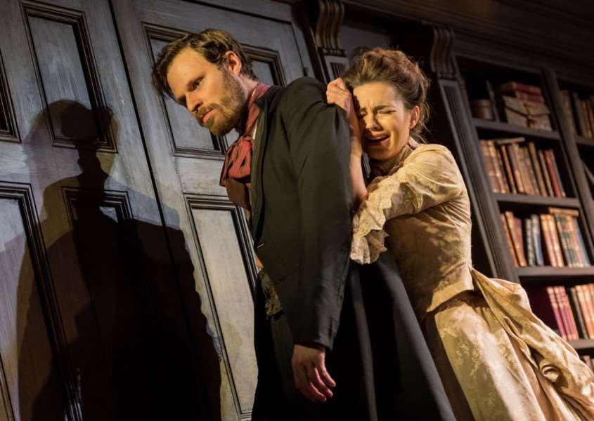 Kara Tointon and Rupert Young star in Gaslight at the Cambridge Arts Theatre