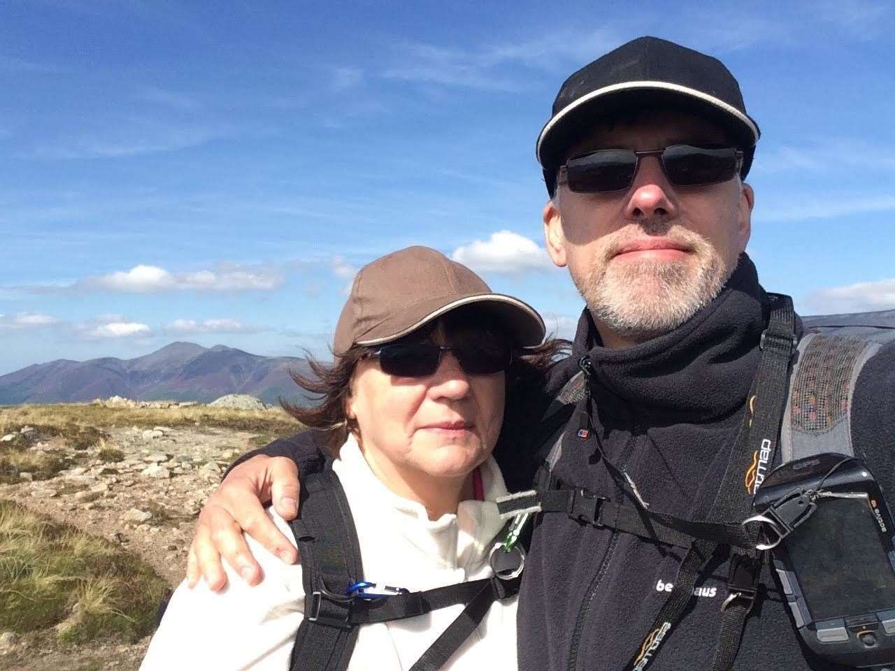 Mike Hall with his late wife Carol in the Lake District en route to High Seat Fell. Submitted picture