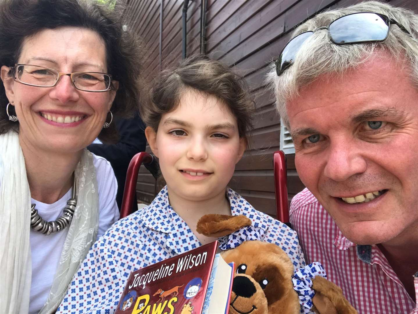 Sally and Mark Bramall with daughter, Lizzie, who died from a brain tumour aged nine. Mrs Bramall has been nominated for an award in recognition of her fundraising efforts. (34891914)