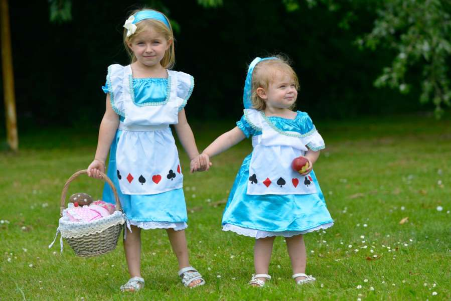 Mia and Ela Goodwin, aged five and two, dressed up for the Great Get Together in Hepworth