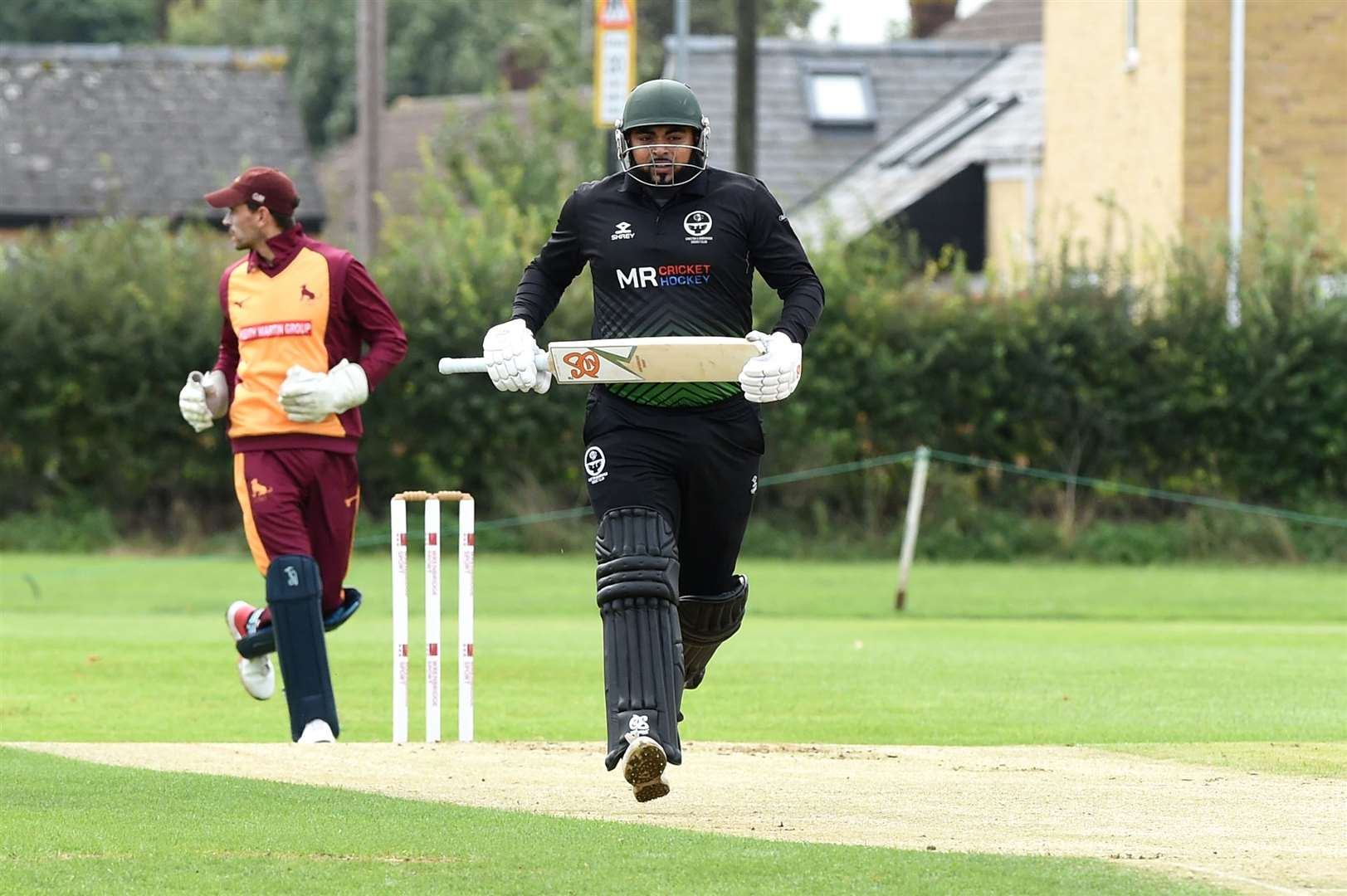 Waqas Hussain clocks up the runs for leaders Sawston & Babraham against Sudbury in their top-of-the-table clash on SaturdayPicture: Mecha Morton