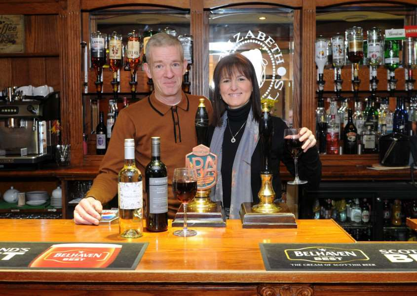 Joint managers Helen Baldry and Robert Read of The Limes Hotel '''''PICTURE: Mecha Morton