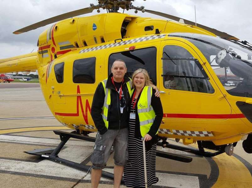 Alison Allen, 40, says thanks to the emergency air service