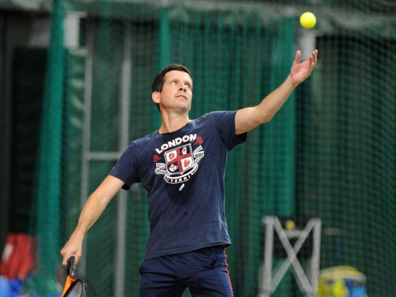 KNOWLEDGE: Culford Tennis Centre recently welcomed Tim Henman, who passed on his knowledge to some of the pupils - they are now passing it on