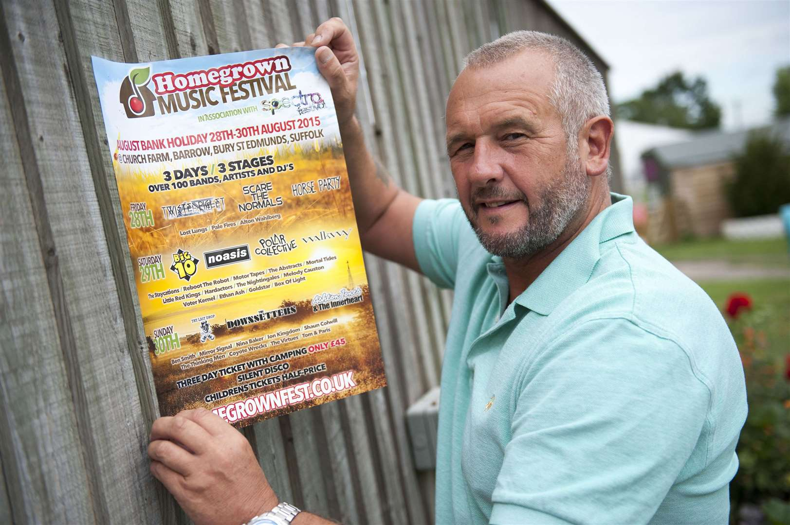 Homegrown Festival organiser.Church Farm, Church Road,Barrow.Glen Moulds, founder of the Homegrown (music) Festival in advance of this year's festival that takes place on August Bank Holiday weekend..Picture Mark Westley. (14521326)