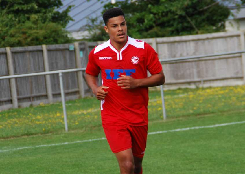ON TARGET: Haverhill Rovers' Tyrone Alleyne