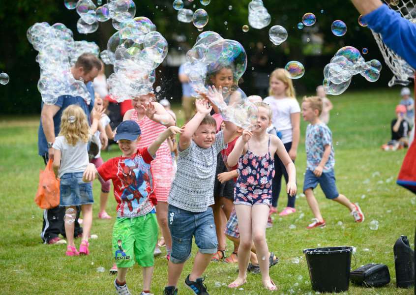 Community Extravaganza on the Recreation Ground in Haverhill. Bubbles everywhere ANL-150628-160413009