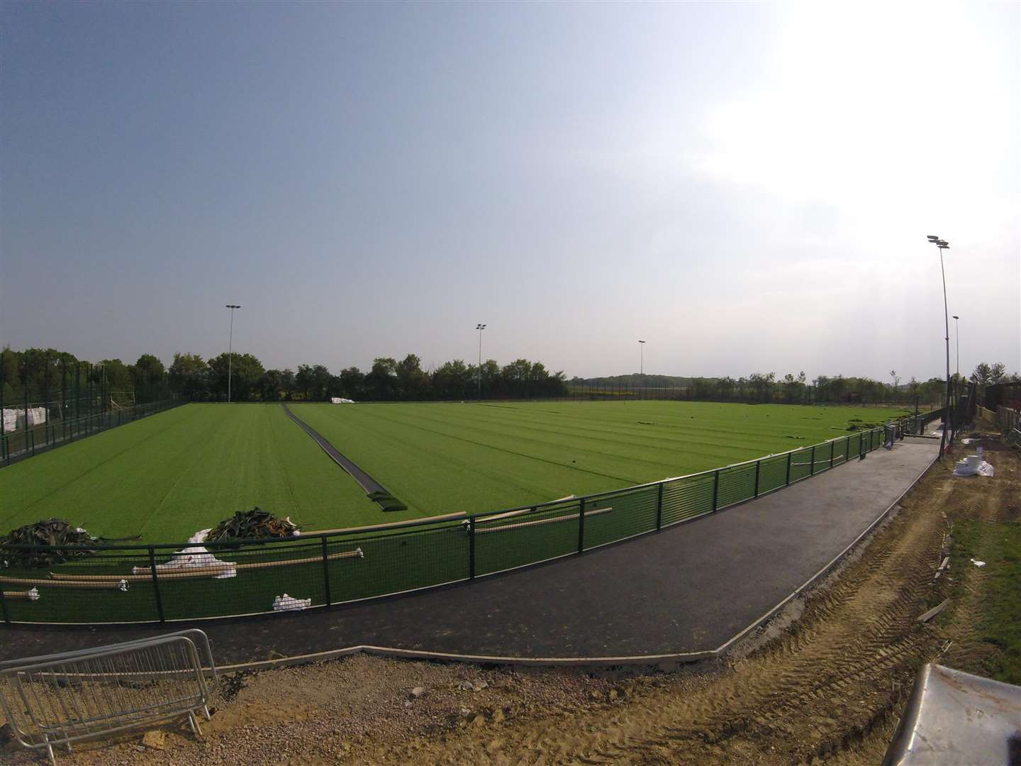 GETTING THERE: Needham will open their 3G pitch in September. Picture: Ben Pooley (1945267)