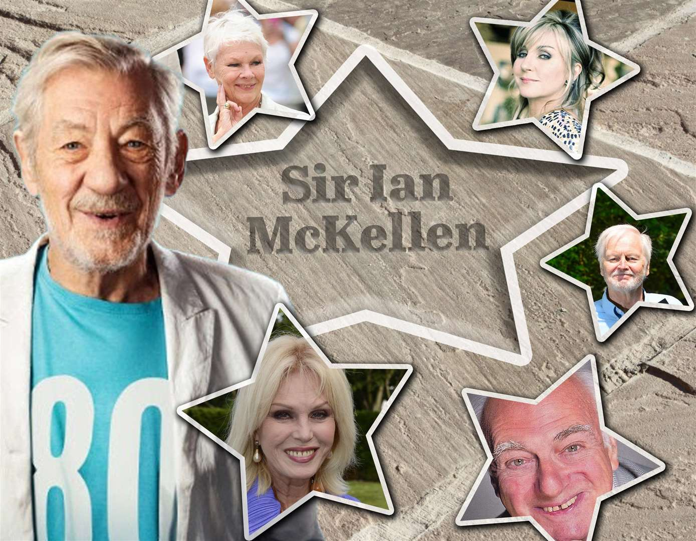 Sir Ian McKellen, Dame Judi Dench, Lesley Garrett, Ian Lavender, Roy Hudd and Joanna Lumley are among the performers identified for the Theatre Royal Star Trail in Bury St Edmunds.