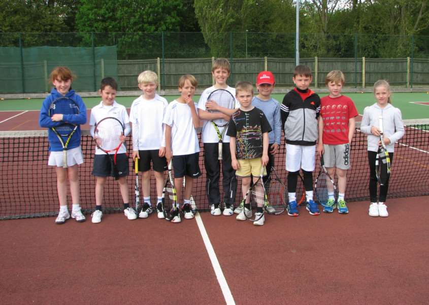 The line up of competitors in the Orange County Tour event held at Haverhill Tennis Club (Absent from photo: Isabelle Miller) ANL-150514-163142002