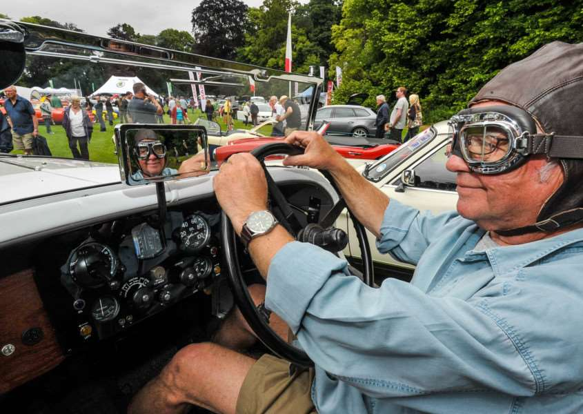 Stephen Lee from Bury St Edmunds with his 1930 Talbot 90 at last year's show ANL-140615-195816009