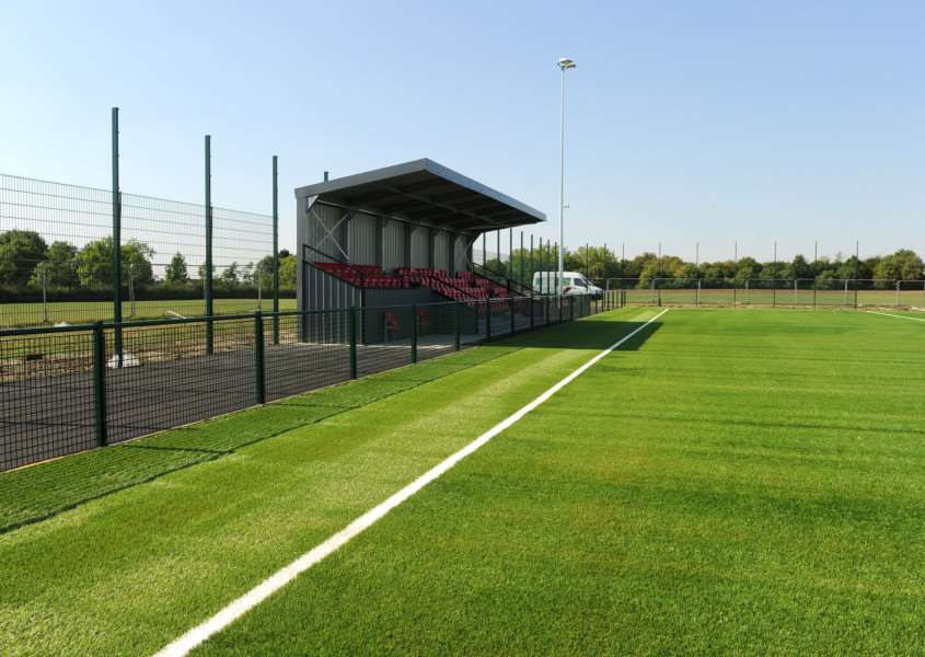 BRAND NEW: The 3G pitch, categorised as a Step 6 ground, when it was first opened in September 2016. Borough, at the time, were in the Thurlow Nunn League First Division Picture: Mecha Morton