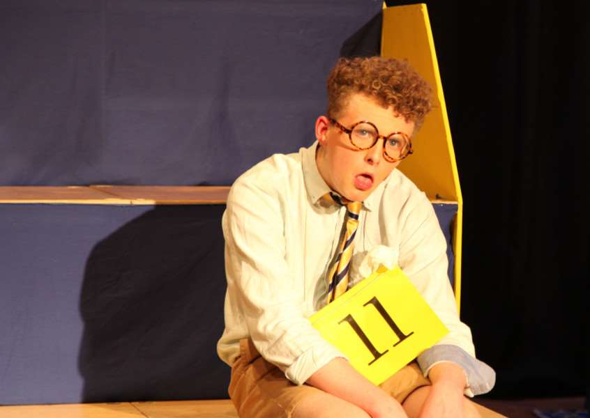 Darrell Barnard-Jones in Ormiston Sudbury Academy's production of The 25th Annual Putnam County Spelling Bee ANL-160125-132013001