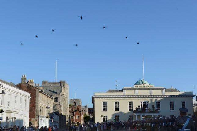 Apache flypast. PHOTO: Robert Robertson.