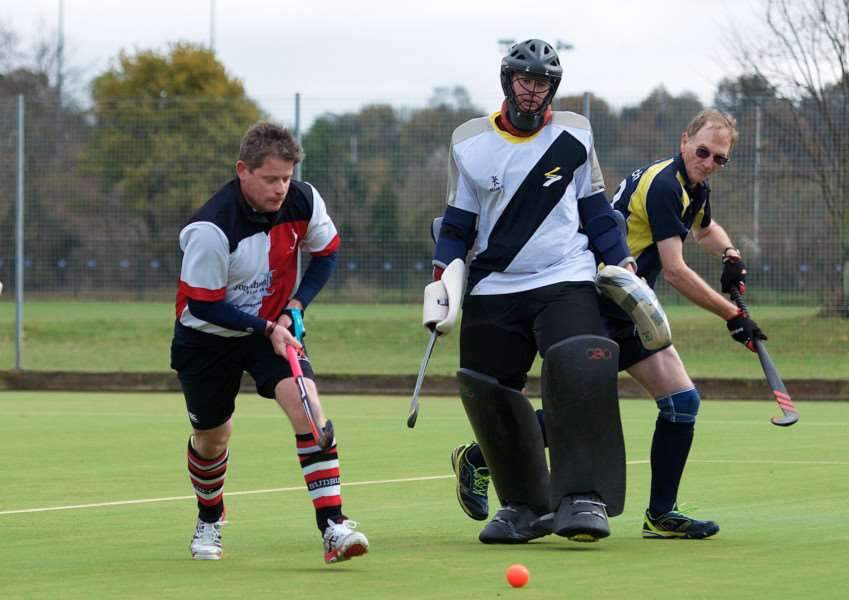 ATTACKING ONSLAUGHT: Sudbury Men's III in action on Saturday Picture: Mark Bullimore