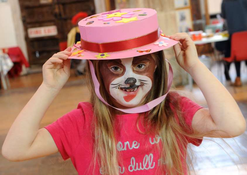 I-Spy Easter run by Churches together in Sudbury''Pictured: Amelia Neill (6) with the hat she made'''PICTURE: Mecha Morton