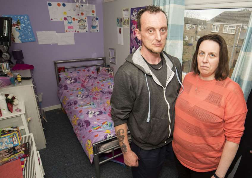 Paul and Sarah Clark have appealed against bedroom tax.' Picture Mark Westley