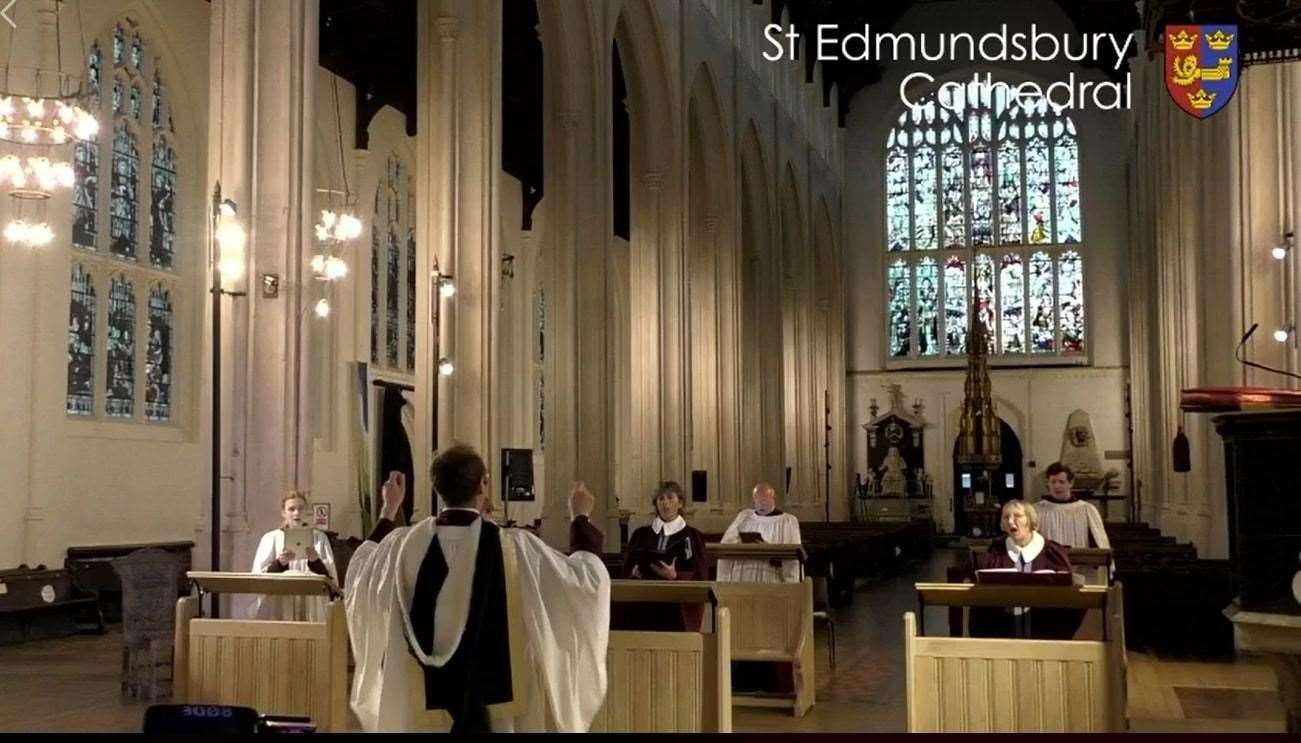 The service was livestreamed last Sunday	Photo by St Edmundsbury Cathedral.