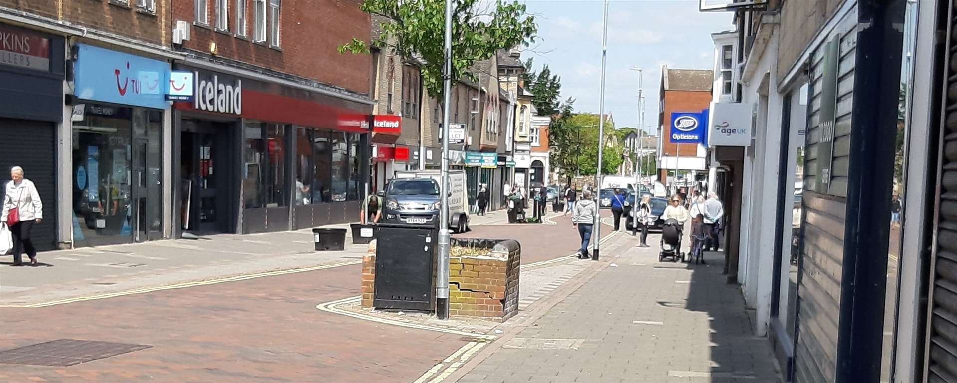 Vehicles will no longer be seen like this in Haverhill High Street between 10am and 4pm once the new covid-19 safety measures are brought in