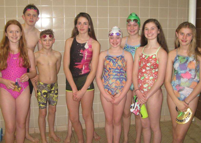 TOP TEAM: Members of the Mildenhall Sharks Swimming Club