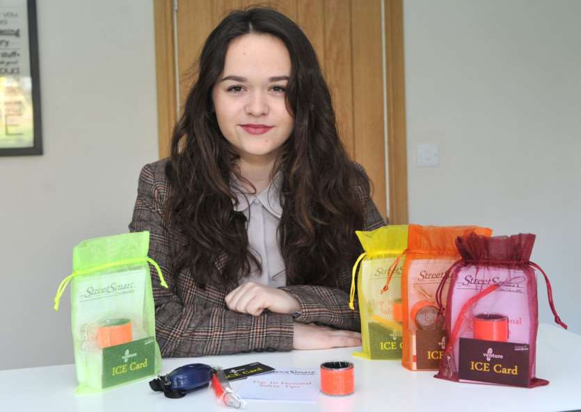Ellis Fenwick, 16, has designed a safety pack as part of the young enterprise scheme ANL-150125-130532009