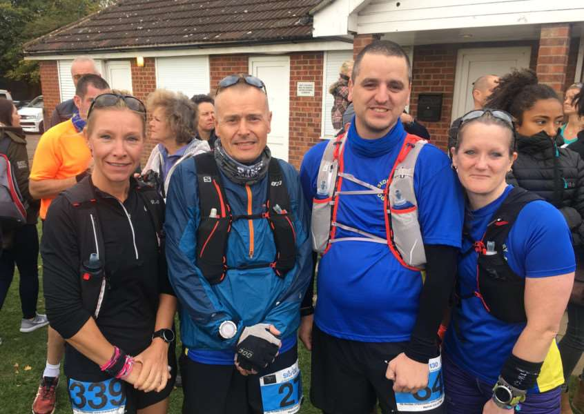 ESSEX TEST: Gary Godfrey, Mark Salisbury, Sarah Pennock and Rebecca Evans competed in the 30-mile race at Bishop's Stortford